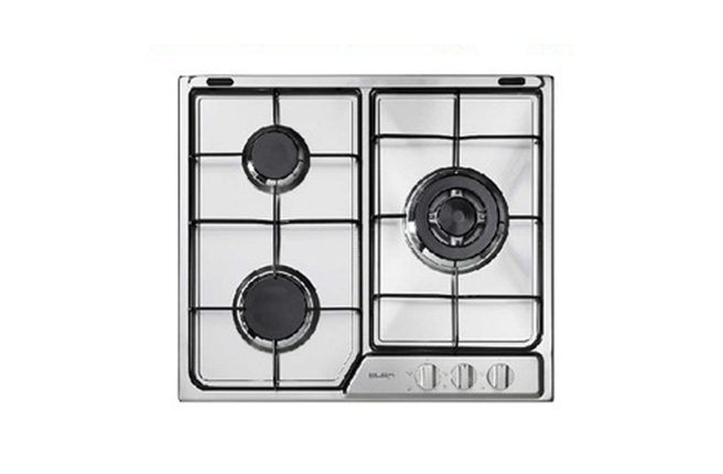 Elba 60cm Stainless Steel Battery Ignition Gas Hob